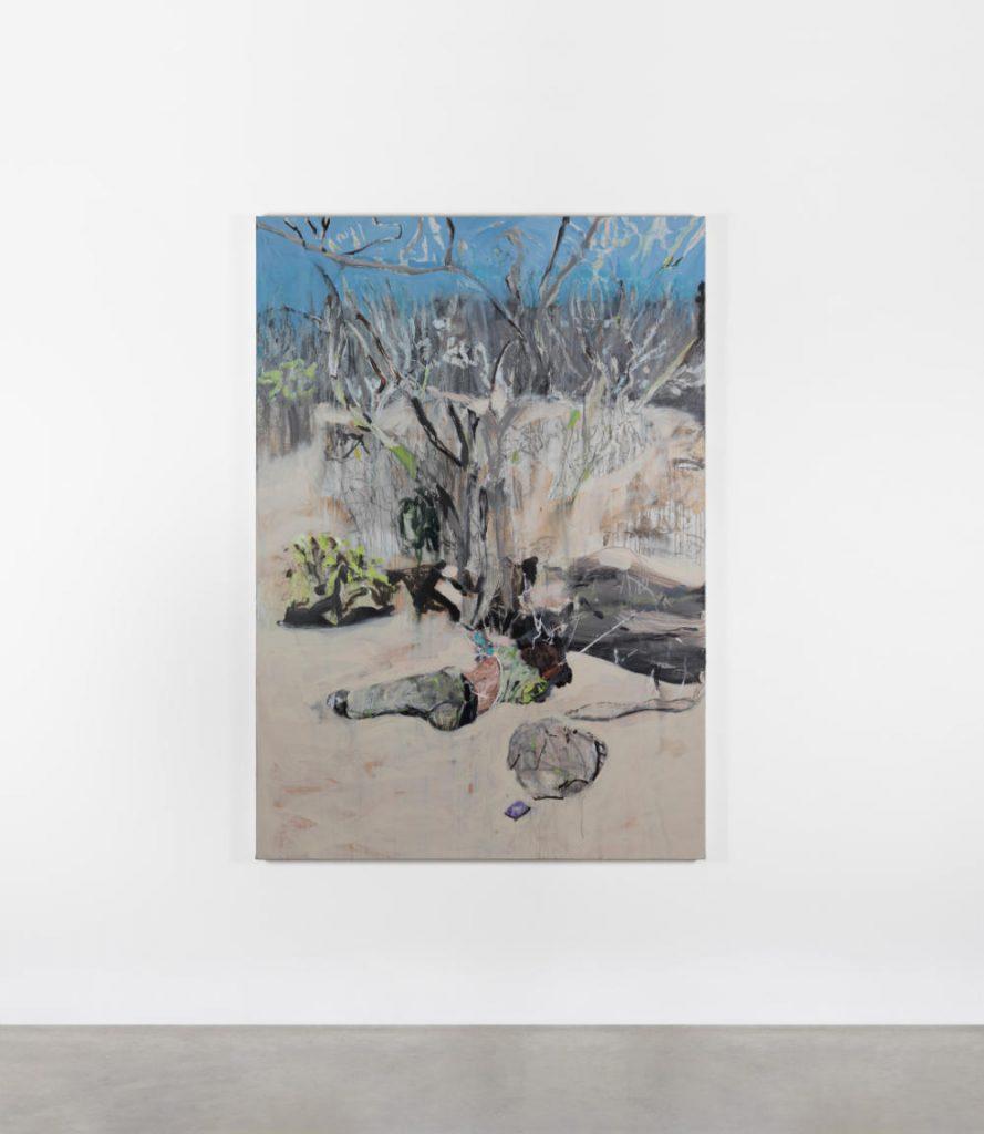 Image:  Brian Maguire, 'Arizona Border 3', 2020, acrylic on canvas, 200 x 140 x 4.5cm. Courtesy of the Artist and Kerlin Gallery, Dublin.