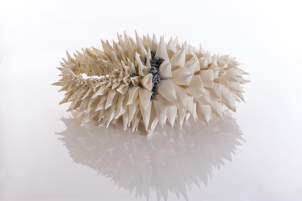 Image: Nuala O'Donovan, 'Teasel-Grey Area', 2019, porcelain. Courtesy of the Artist.