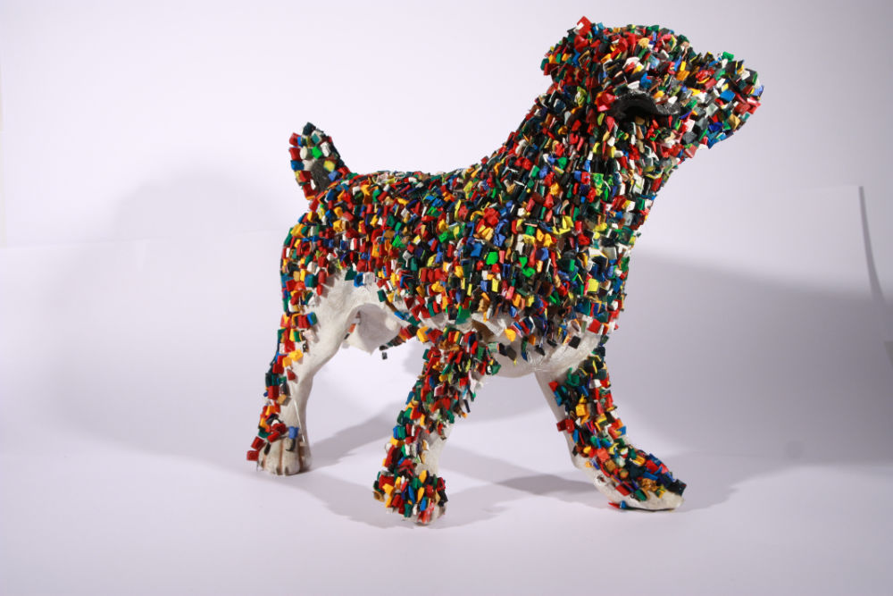 Image: Declan Byrne, Encrusted Dog, mixed media, 30 x 11 x 11 cm. Photo courtesy of KCAT Arts Centre.