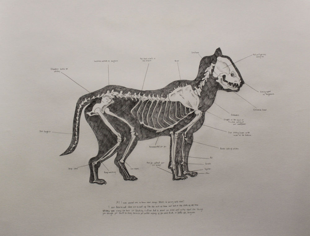 Image: Peter Nash, 'Domestic Animal', 2018, pencil on paper. Courtesy of the Artist.