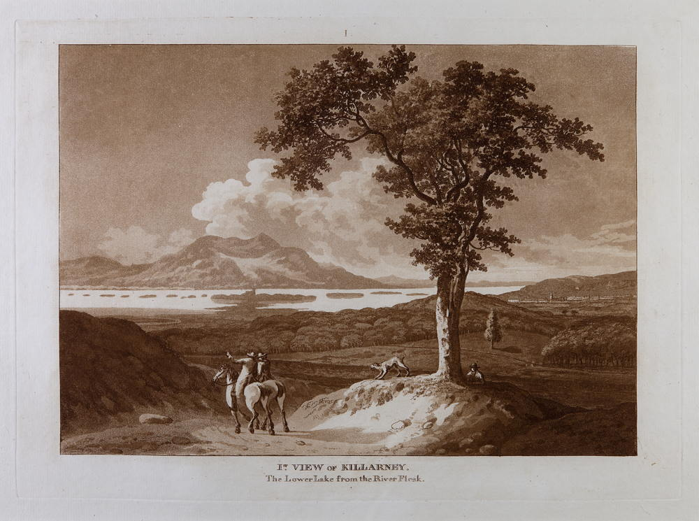 Jonathan Fisher, I (1st) view of Killarney. The lower lake, from the River Flesk, 1789
