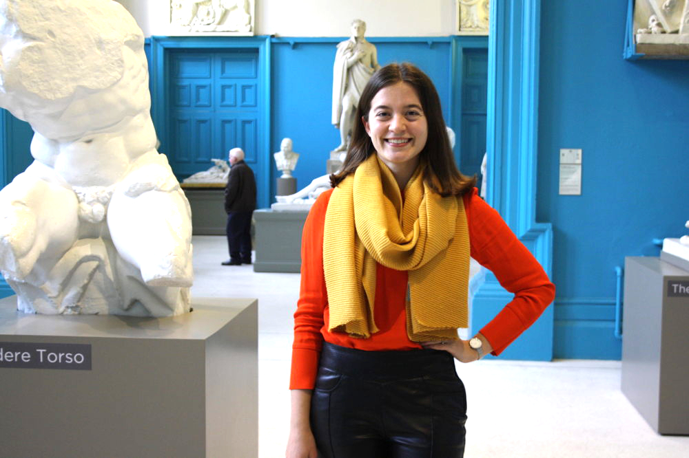 Abbey Ellis in our Sculpture Galleries