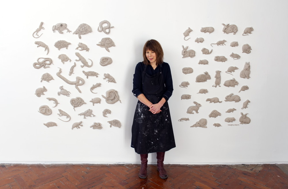 Photo: Daphne Wright at her solo exhibition A quiet mutiny, held at Crawford Art Gallery in 2019/20, © Michael Mac Sweeney/Provision.