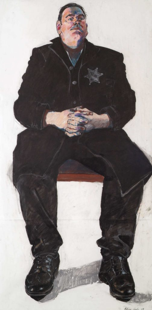 CAG.2431 Eileen Healy, Portrait of Cónal Creedon (detail), 2007, pastel on paper, 115 x 75 cm. Presented, Friends of the Crawford Art Gallery, 2007. © the artist