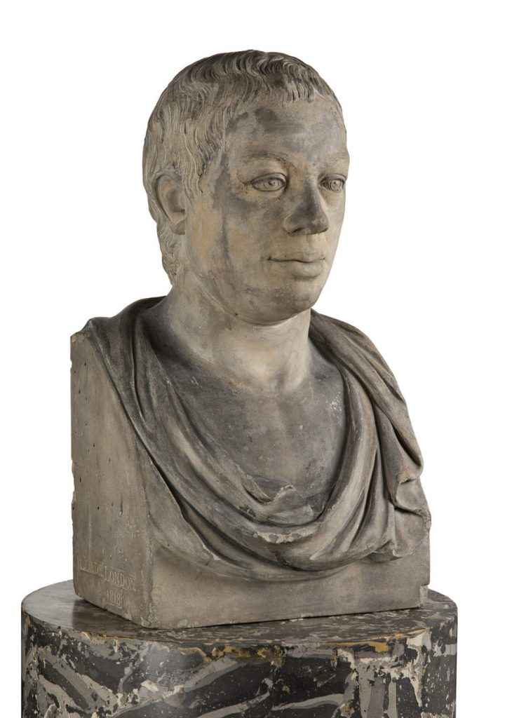 Joseph Panzetta, Bust of James Barry (angled view)