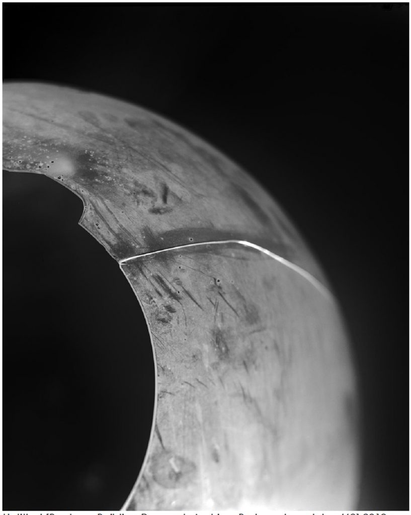 Image: Roseanne Lynch, Untitled [Bauhaus Building Research Archive, Broken glass globe /68], silver gelatin fibre based paper by artist. Courtesy of the Artist.