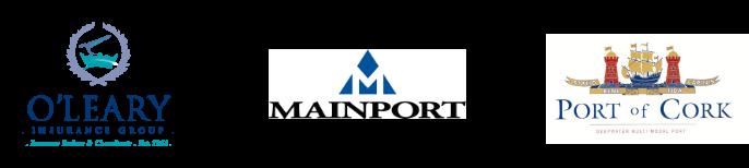 O'Leary Insurance Group logo, Mainport Logo, Port of Cork logo