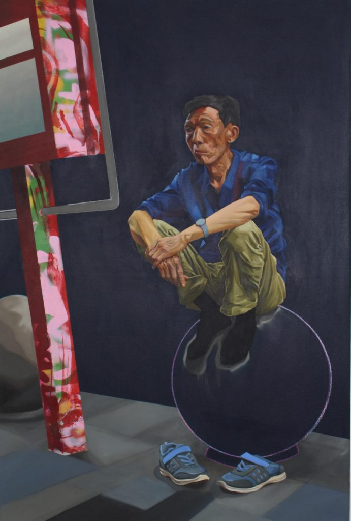Image: Stephen Doyle, Meditating Tongqui, 2020, oil on mixed media and canvas. Courtesy of the Artist.