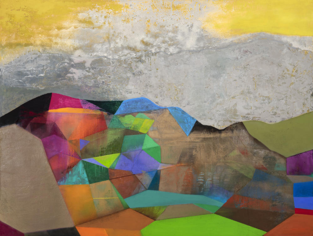 Image: Tom Climent, Eden, 2020, oil, plaster & sand on canvas, 244 x 183 cm. Courtesy of the Artist.