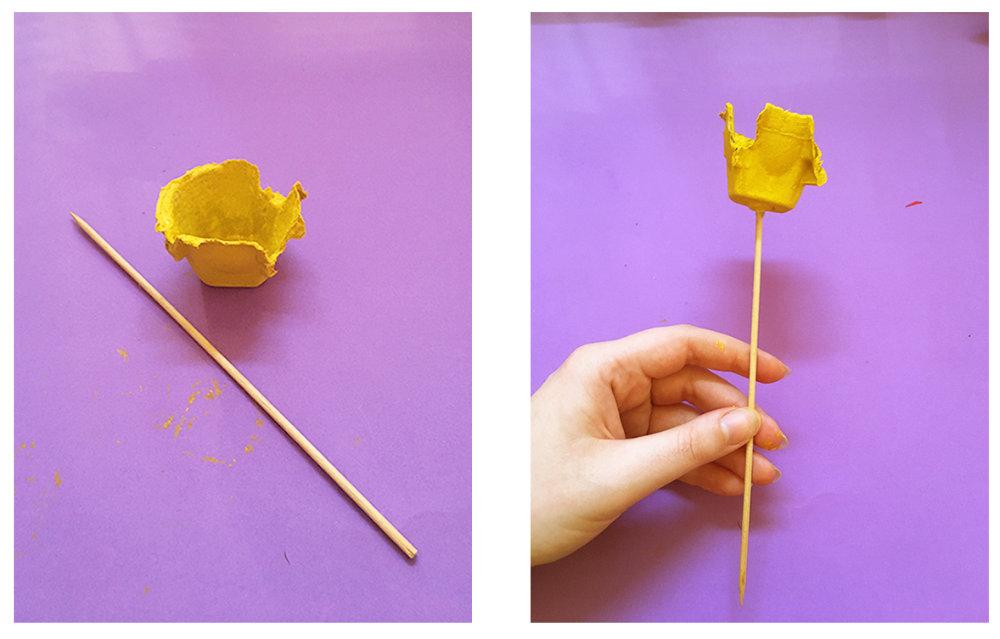 Tulip with stick