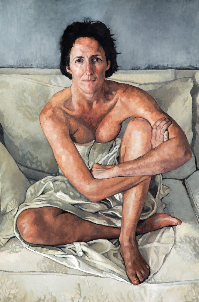 Victoria Russell, Portrait of Fiona Shaw, 2002, oil on canvas, 182 x 122 cm. © the artist.