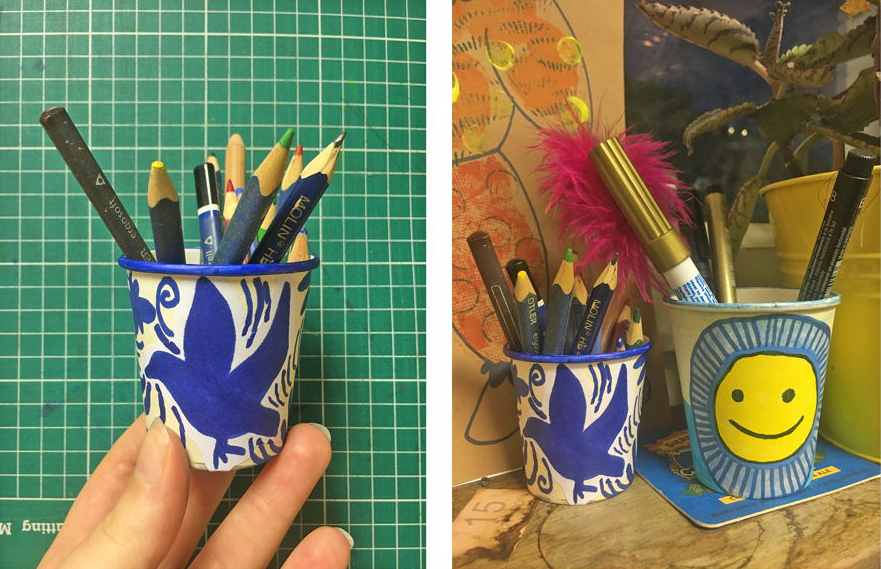Cups with treasures