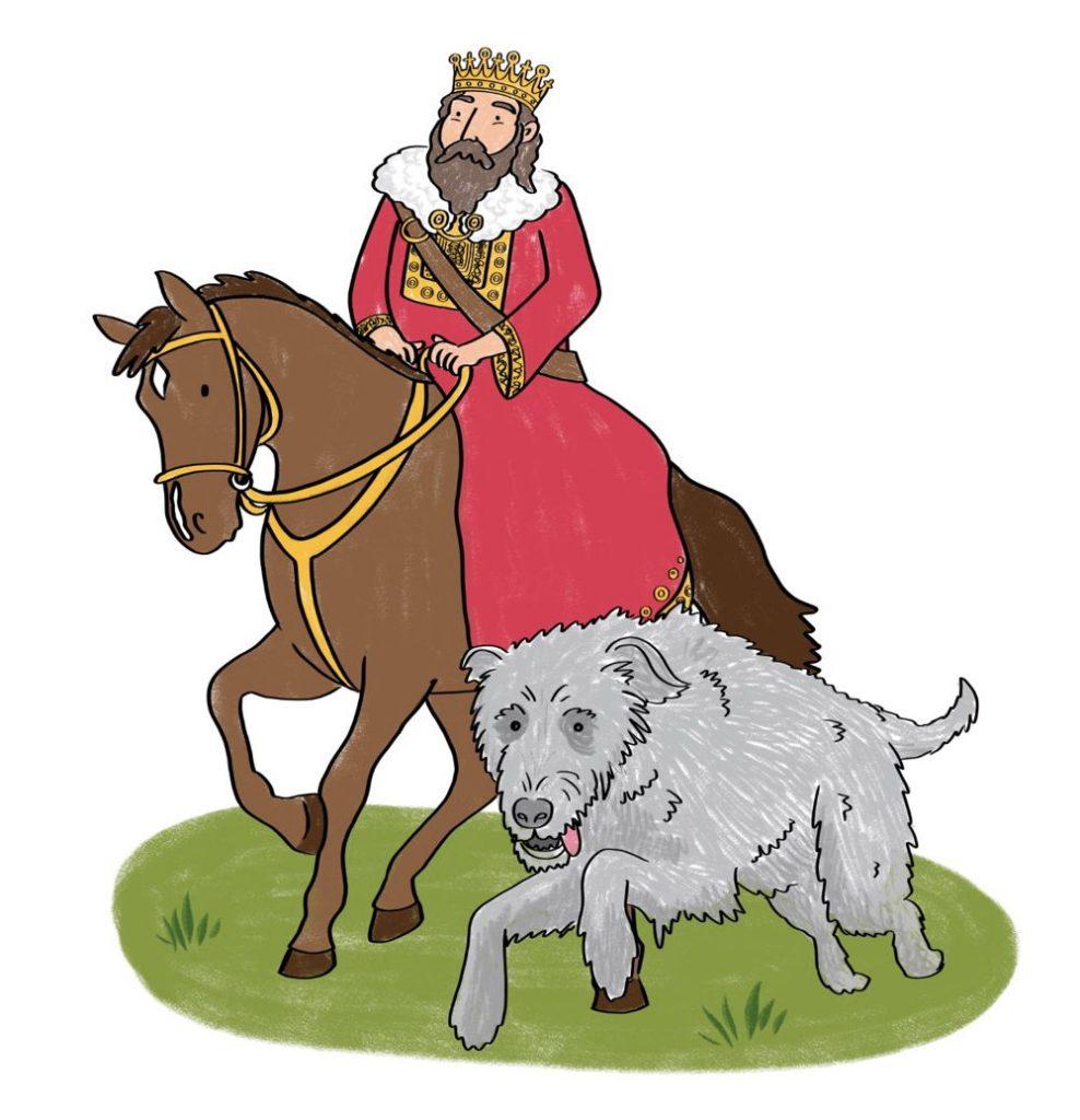 Irish king and wolfhound