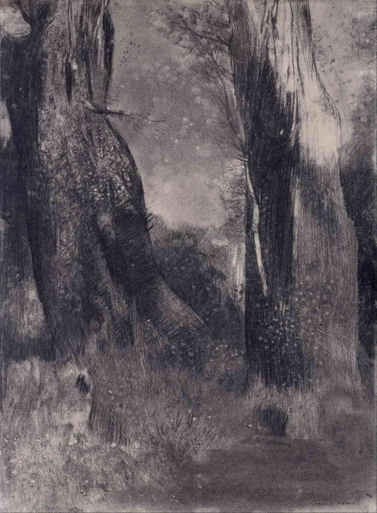 "Odllon Redon ""The Trees"" 1890 Museum of Fine Arts, Houston (public Domain)"